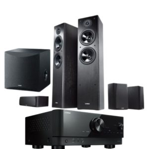Yamaha Series NS F51 5.1 Speaker Package With Yamaha RX-V4A Amplifier