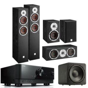 Dali Spector 6 5.1 Speaker System With Yamaha RX-V4A Amplifier