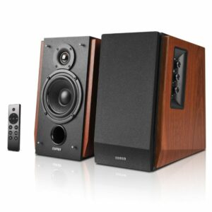 Edifier R1700BTs Active Bookshelf/ Multimedia Speaker (Brown)