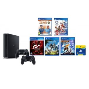 PlayStation 4 500GB Console With 5 X PS4 Games Plus Two Remote Controllers