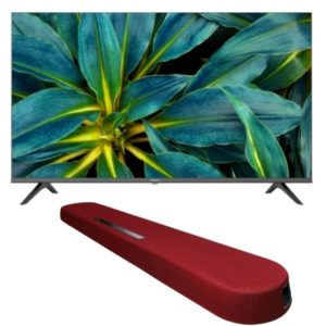 "Hisense 43A5200 43"" FHD LED TV with Yamaha YAS 108 Soundbar"