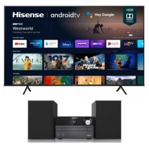 "Hisense 75"" A6G Series 4K UHD Android Smart TV (2021) with FREE Micro Hi-Fi HA120 Valued at R 1990"