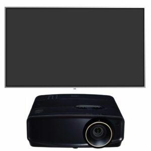 jvc lx-uh1 projector plus screen innovations zero edge pro zpt110bd14 black diamond screen