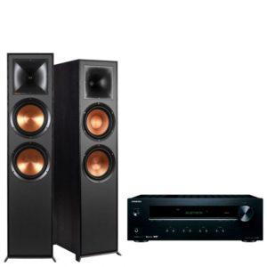 Klipsch R820F Floorstanding Speakers with Onkyo TX-8220 Amplifier
