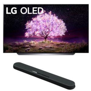 LG C1 65 inch Class 4K Smart OLED TV with Yamaha YAS 108 Soundbar