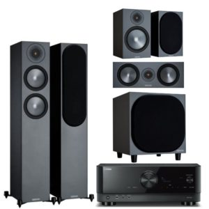 Monitor Audio Bronze 200 5.1 System with Yamaha RX-V4A Amplifier