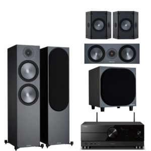 monitor audio bronze 500 5.1 system with yamaha rx-a2a amplifier