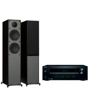 Monitor Audio Monitor 200 Floorstanding Speakers with Onkyo TX-8220 Amplifier