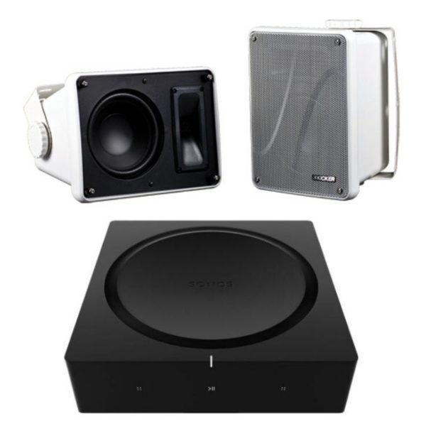 sonos amp with kicker kb6000 outdoor speaker combo
