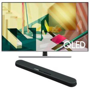 "Samsung 55"" Q70T QLED 4K Flat Smart TV (2020) with Yamaha YAS 108 Soundbar"