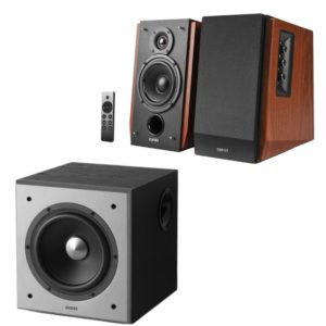 Edifier R1700BTs Speaker (Brown) and T5 Subwoofer Combo
