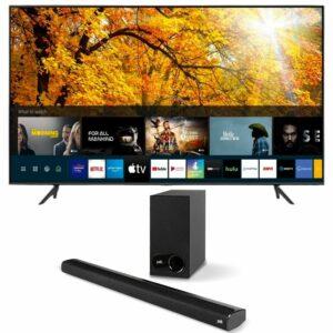 JVC 98 Inch WebOS UHD Smart TV with Polk Audio Signa S2 Soundbar