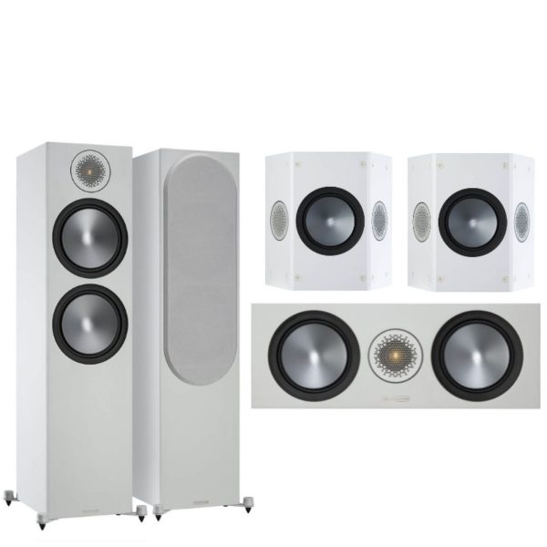 monitor audio bronze 500 5.0 system (white)