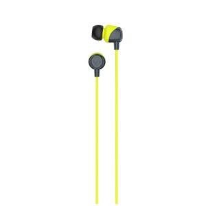 Skullcandy Jib In-Ear Headphone - Grey/Hot Lime