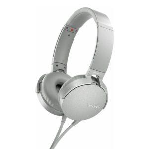 Sony MDR-XB550AP Extra Bass Headphones (White)