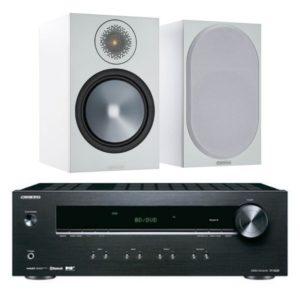 Monitor Audio Bronze 100 (White) with Onkyo TX-8220 Amplifier