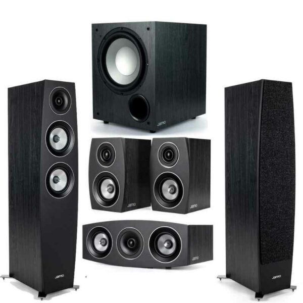 jamo c95 ii 5.1 home theatre package (black or white)
