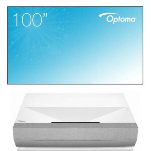 Optoma Cinemax P2 & Optoma Ambient Light Rejection Screen 100inch